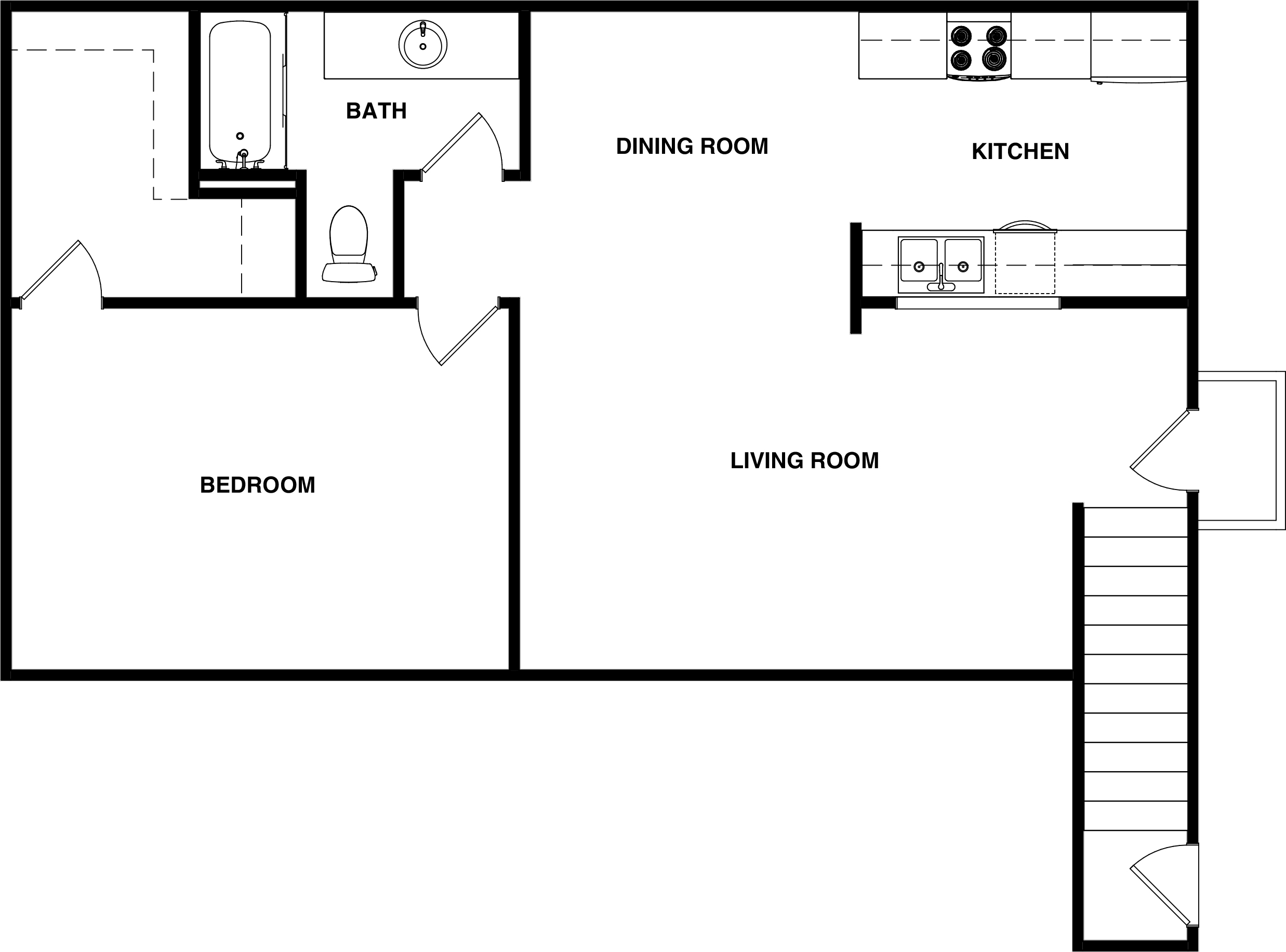 White Creek Apartments Bed Size
